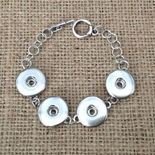 Noosa style chunk snap chain bracelet