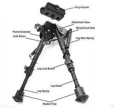 "Universal 17-25cm 6""-9"" Folding Bipod Foregrip For Airsoft Hunting Sling Adapter"
