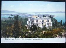 GREECE~1900's Souvenir de CORFOU ~ Villa Imperiale