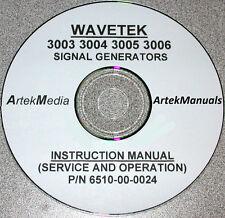Wavetek 3003 3004 3005 3006 Service & Ops Manual