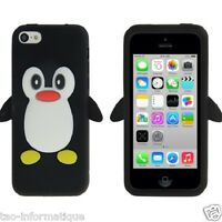 silicone cover cartoon Penguin for iphone 5C