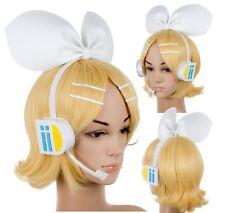 Vocaloid Kagamine Rin Cosplay Wig Cosplay Blonde + headwear