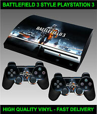 Play station 3 Console Sticker Skin Battle Field War Style skin & 2 X Pad Skins