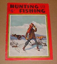 1/1936 Hunting And Fishing Magazine