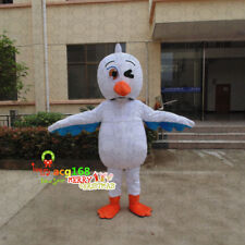 Seagull Mascot Costume Animal Outfit Seabird Cosplay Suit Bird Dress Adult Party