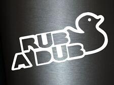 1 x 2 Plott Aufkleber Rub A Dub Ente Duck Sticker Autoaufkleber Tuning Fun Gag