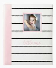Pearhead Milo & Kate Baby Girls Pink Striped Milestone Baby Memory Book