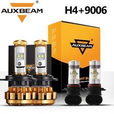 AUXBEAM 9003 H4 LED Headlight 9006 Fog Lights for Toyota Tundra 00-06 RAV4 01-05