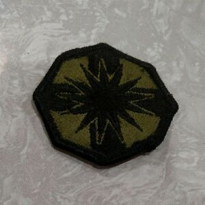 US ARMY PATCH  Support Brigade Subdued Badge Insignia Emblem Black Green