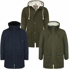 Cotton Blend Long Parkas for Men