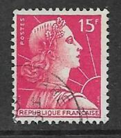 FRANCE POSTAL ISSUE - DEFINITIVE USED STAMP 1955 LIBERTY - MARIANNE DE MULLER