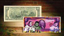 STAR TREK PURPLE Moon Landing Astronauts by RENCY Pop Art on $2 Bill #/70 Banksy