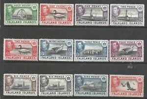 FALKLAND ISLANDS     1938     KGVI    MLH     SG46-151,153-157,159      Cat.£105