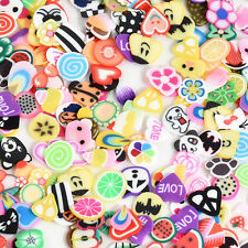 1000pcs Mixed DIY Nail Art Tips Fimo Decoration Flower Fruit Clay Sticker kawaii