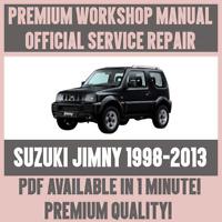 *WORKSHOP MANUAL SERVICE & REPAIR GUIDE for SUZUKI JIMNY 1998-2013
