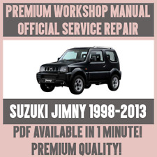 *WORKSHOP MANUAL SERVICE & REPAIR GUIDE for SUZUKI JIMNY 1998-2013