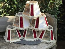 More details for set of six early/ mid century vintage rustic hunting design hotel/bar lampshades