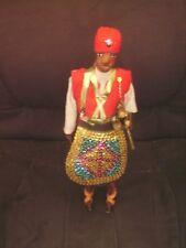 Poupée homme africain en tissu et cuir Hauteur 33 cm