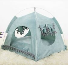 New Pet Dog Cat Tent House Sofa Bed Folded Cushion Mat 2 sides use Indoor Small