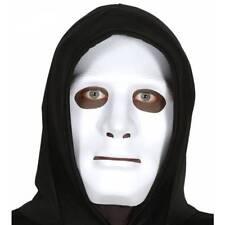 WHITE Robot Face Mask Halloween Robotic Masquerade Horror Fancy Dress