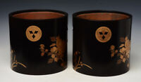 Early 20th Century, Showa, A Pair of Japanese Wooden Hibachi Vessels