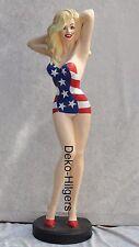 American Diner Sexy Girl Pin Up Figur Skulptur Groß Werbefigur Deko USA Statue