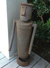 Vintage Original Metal Robot Sculpture / Made from Scrap Iron 1940's