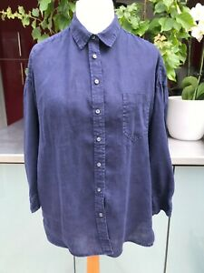 Vintage Gap Navy Linen Women's Shirt Size M