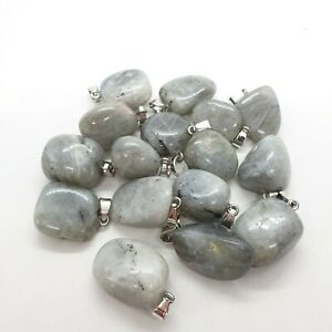 Moonstone Natural Stone Necklace Crystal Pendant Shimmer High Quality Chain UK