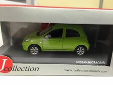 NISSAN MICRA 2010 GREEN J COLLECTION 1:43 DIECAST-CAR-MODEL-JCL201