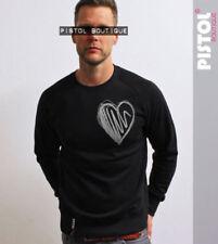 Camisetas de hombre de manga larga negras 100% algodón