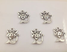 12pcs Tibetan Silver kitten Charm Pendant Bead Jewellery Making 15*12mm