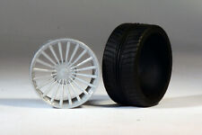 "1/24 1/25 20"" resin wheel set 20-spoke 'Alpina' with tires"
