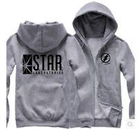 The Flash Star Labs Hoodie Star Laboratories Black Sweatshirt Coat Unisex jacket