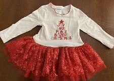 Bonnie Baby Girls Christmas Dress Size 18 Month Tutu Skirt