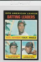 1971 Topps Johnson Oliva Yastrzemski #61 Card AL Batting Leaders Stamped On Back