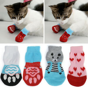 Winter Pet Dog Boots Puppy Comfy Shoes Fit Small Dog Cat Anti-Slip Snow Socks