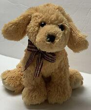 """Ty Classic GOLDWYN Golden Retriever Puppy Dog Plush Stuffed Tysilk 10"""" Plaid Bow"""
