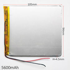 3.7V 5600 mAh 4594105 Li po Polymer li ion Battery For Tablet PC Power Bank PAD