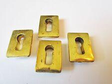 4 anciennes entrées de serrure en bronze 1970 encastrables