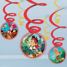 6 Jake And The Never Land Pirates Party Cutouts Hanging Swirls Decorations