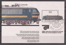 Belgium - Sheet - 1985 - COB 61 - SCOTT 1198 - Locomotive - Used -