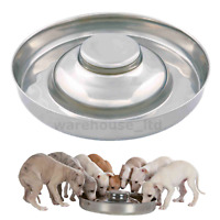 Trixie Stainless Steel Puppy Bowl Feeding Weaning Saucer - Medium or XL Whelping