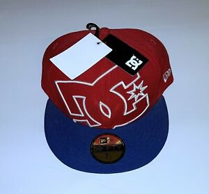 NWT DC Blue And Red Hat Size 7 1/2 New Era 59Fifty