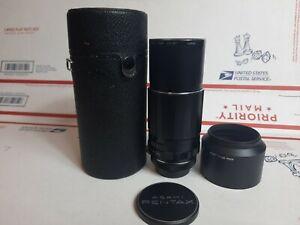 Vintage Pentax Asahi Opt.C0. Super-Takumar 1:4/200 telephoto screw on M42 lens