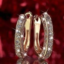 Sparkling Filled U-Shape Huggie Simulated Gemstone Hoop Earrings For Womens Gift