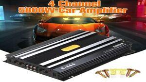 4 Channel  5800W Digital Subwoofer Audio Power Stereo Car Amplifier 12V