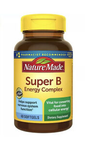 Nature Made Super B Energy Complex Softgels, 60 Count for Metabolic Health 11/22