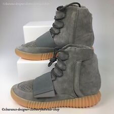 ADIDAS YEEZY BOOST 750 TRAINERS in GREY GUM GLOW IN DARK BOOTS SHOES UK 10