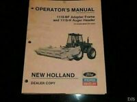 New Holland 1116-BF 1116-H OPERATORS Manual DW405